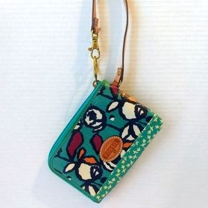 Fossil Coated Canvas Wristlet